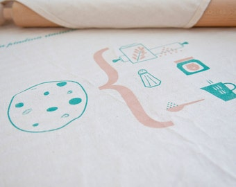 """Tea towel RECIPES ILLUSTRATED """"Piadina Rimini"""""""