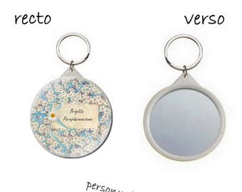 key button with mirror on the back 58mm, craft, humor, with name, personalized St, craft and name choice