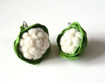 1 x charm 18mm cauliflower handcrafted Miniature