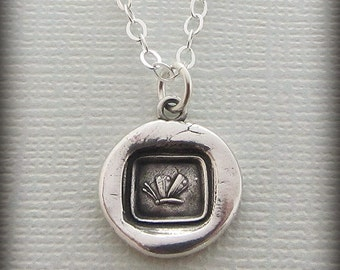 Butterfly Wax Seal Necklace - Psyche's Butterfly - Wax Seal Jewelry - Silver Butterfly Pendant - Antique Wax Seal Pendant E2400