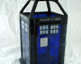 Doctor Who TARDIS Mosaic Lantern Made-To-Order