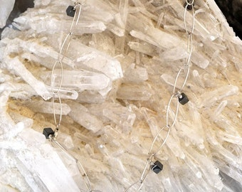 Hematite & Sterling Necklace