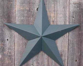 24 Inch Painted Galvanized Heavy Duty Metal Amish Tin Barn Star