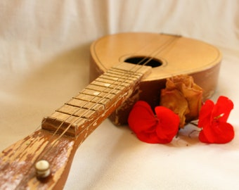 Vintage Mandolin, Mandolin, Old Mandolin, Folk Instrument, Antique Mandolin, Ukulele, Banjo, Folk guitar, Vintage instrument, collectible