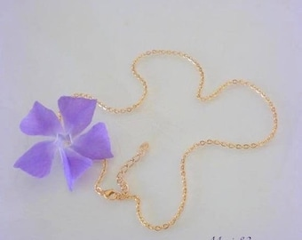 Neck chain 2.2 mm chain / 18K gold plated