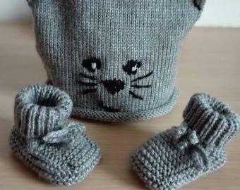 Hat booties baby