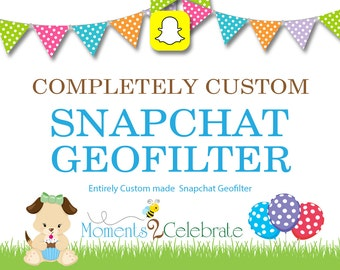 Snapchat GeoFilters, Birthday Snapchat Filters, Party Snapchat Filter, Custom Snapchat GeoFilter, Personalized Snapchat Filter - S15