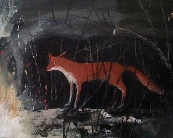 "The Fire Fox, Giclee print 7"" x 5"""