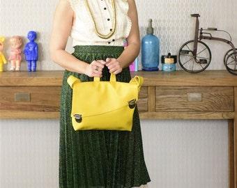 Crossbody Bag , Shoulder Bag, Vegan Purse, Yellow Bag, Messenger Bag, Vegan Bag, Hipster Bag, Faux Leather Bag, Eco Friendly Bag, Cool Bag