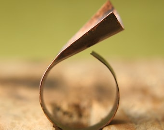 Curly Copper Ring