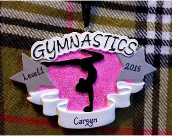 Personalized Christmas Ornament - Gymnastics Gift -Gymnast Ornament - Gymnastics Team Gifts/Gymnast Birthday Gift/Gymnastics Coach
