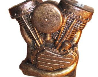 Panhead, motorcycle, engine replica, motorcycle engine,home decor, home and living, man cave, gift, decor, stone sculpture