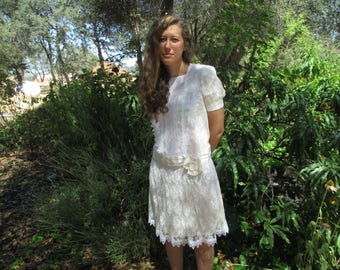 Gunne Sax - Vintage Dress -  Jessica McClintock - Size 8 - FREE SHIPPING! Price slashed!