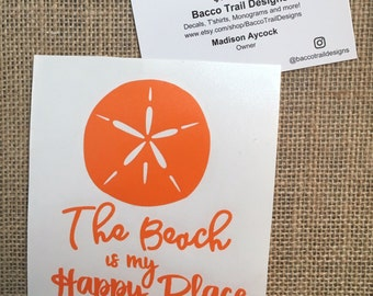 The beach is my happy place decal