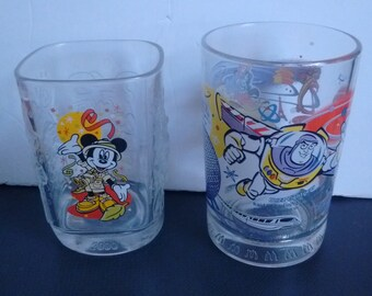 Lot of 2 Walt Disney World Mickey Mouse Buzz Lightyear Aladdin Beauty and the Beast Glasses