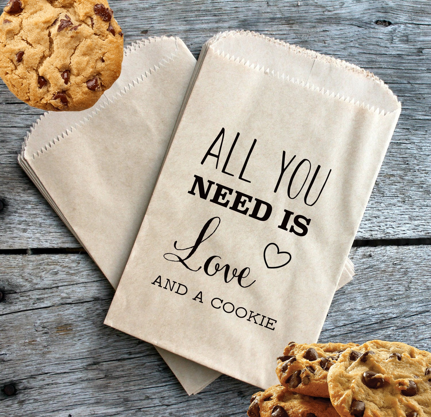 Wedding Cookie Favor Bags All You Need Is Love And A Cookie