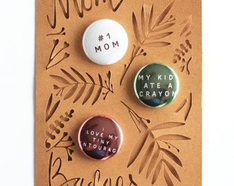 MOM BADGES! for busy moms / funny mom gift / mom pins / perfect mom gift
