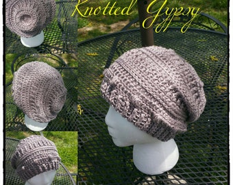 Lazy Dayz Slouch, textured hat, winter wear Made to order