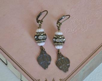 Ear Drops / Shabby Chic Earrings