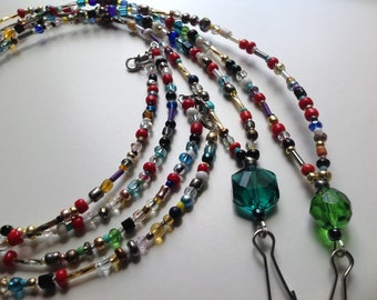 Lanyard Hand Beaded Name Tag Holder Work Badge  I'd Badge Holder #C23 Two for One