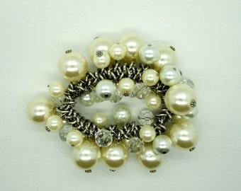 Vintage Pearl Stretch Bracelet Fashion Bracelet Expandable Bracelet
