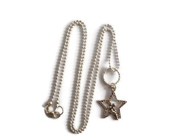 Fantasy, fairy on a star necklace / gift / birthday / party