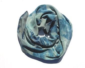 Shibori Scarf - Hand Dyed Crepe de Chine Silk