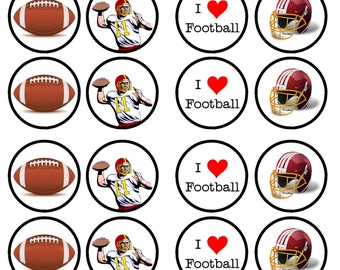 American Football Edible Wafer Rice Paper Cake Cupcake Toppers x 24