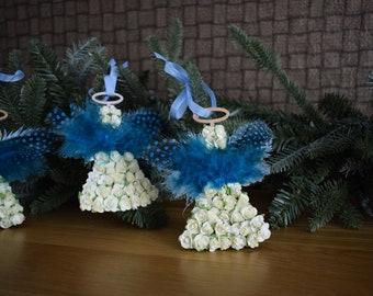 Handmade Christmas ornaments. Set of 3.