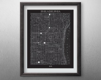 Philadelphia City  Map - Digital File