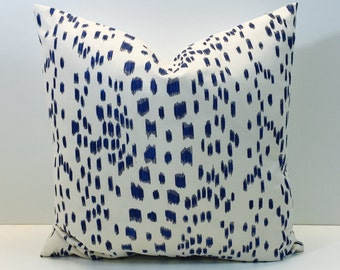 Brunschwig Fils Les Touches Blue  Cushion Covers - Pillow Throws  Beautiful Fabric