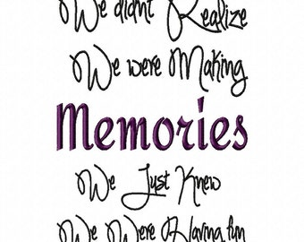 Making Memories Embroidery Machine Designs Digital Download
