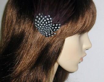 Chocolate Dark Brown Feather Fascinator HAIR CLIP Bridesmaids Hair Accessory Handmade Wedding 'Gwen'