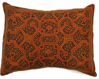 Shipibo Decorative Cushion Peruvian Pillow Amazon Ceremonial Ayahuasca Visionary Ethical Vegan Tribal Boho Chic Wedding Christmas Gift