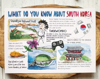 "Postcard ""What do you know about South Korea"""