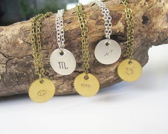 Astrological Necklace Zodiac Necklace Birthday Necklace Zodiac Jewelry Handmade Zodiac Charm Personalized Jewelry