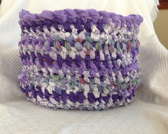 Custom Rag Rug Baskets- pick your colors (upcycled, free shipping)