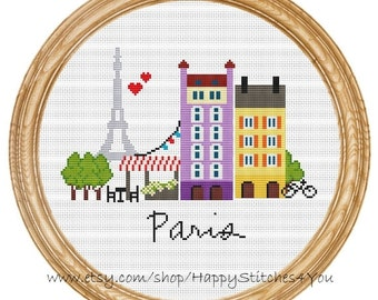 Cross Stitch Pattern PDF Paris DD0067