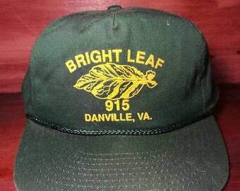 Vintage Bright Leaf Danville Virginia snapback hat