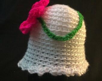 Baby Girl Flower Winter Hat