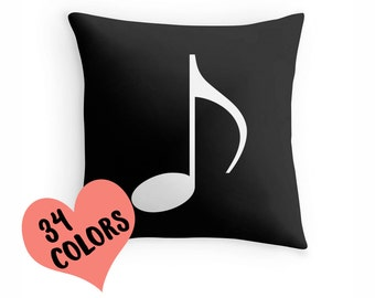 Music Pillow, Music Gift, Music Room, Music Teacher Gift, Music Bedding, Music Cushion, Music Decor, Music Throw Pillow, Music Lover, Music