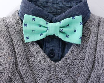 Mint & Blue Plus Sign Bow Tie // Kids Bow Ties // Classic Bow Ties // Boys Accessories // Photography Props