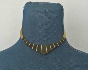 70s/80s Brass Choker/Necklace