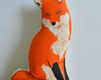 Silkscreen Fox Pillow
