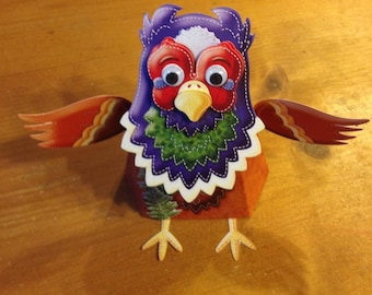 """3D card """"Pheasant"""" with the head that moves"""