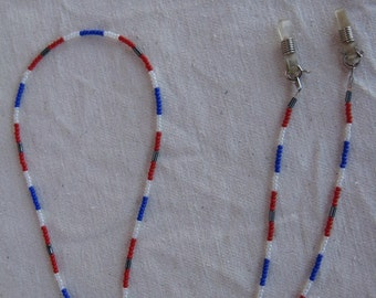 Eye Glass Holder in Red, White and Blue