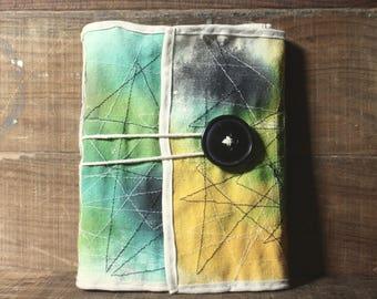 tie dye handbound journal