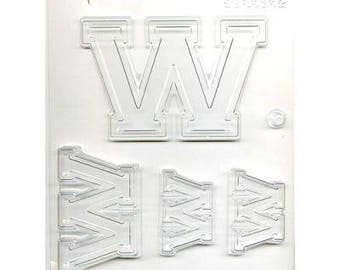"""Collegiate Letter """"W"""" Chocolate Candy Mold"""
