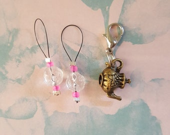Stitch markers for knitting or crochet