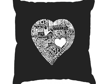 Throw Pillow Cover - Word Art - Love In 44 Different Languages